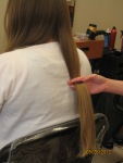 "The first estimation of how much hair 12"" will be for my donation to Pantene Beautiful Lengths"