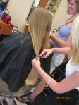 Cutting off the second ponytail of hair to donate!