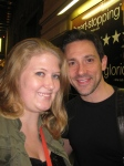 Me with Steve Kazee after Once - June 2, 2012 Evening Show