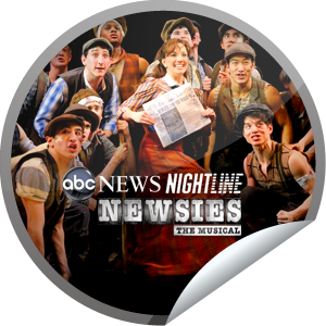 Newsies on Nightline GetGlue Sticker