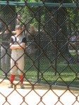 Brendon Stimson at Newsies Softball