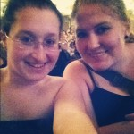 Me and Caroline in our seats at PATSC