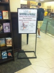 Newsies at Barnes & Noble sign