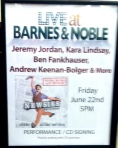 Newsies at Barnes & Noble sign